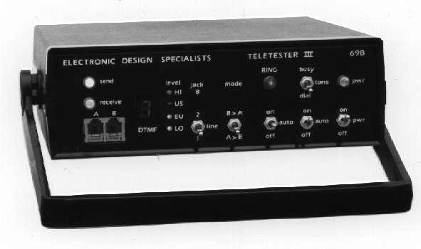 The TeleTester EDS-69B is shown.